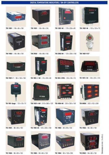 DIGITAL TEMPERATURE INDICATORS ON-OFF CONTROLLERS