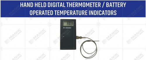 HAND HELD DIGITAL THERMOMETER BATTERY OPERATED TEMPERATURE INDICATORS