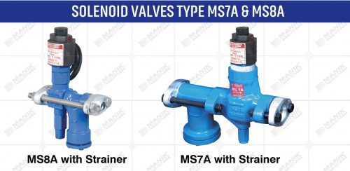 SOLENOID VALVES TYPE MS7 & MS8A