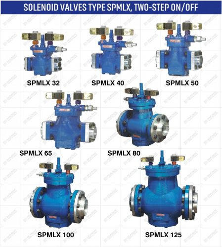 SOLENOID VALVES TYPE SPMLX TWO STEP ON OFF