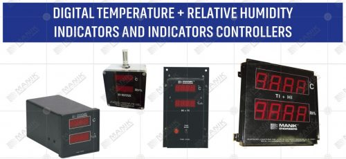 DIGITAL TEMPERATURE + RELATIVE HUMIDITY INDICATORS AND INDICATORS CONTROLLERS