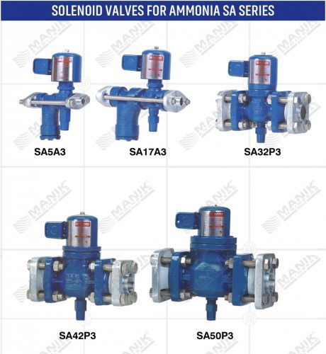 SOLENOID VALVES FOR AMMONIA SA SERIES