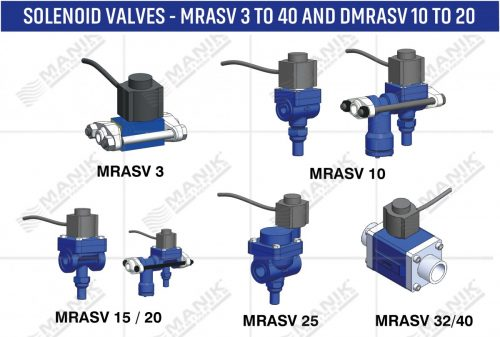 SOLENOID VALVES - MRASV 3 TO 40 AND DMRASV 10 TO 20
